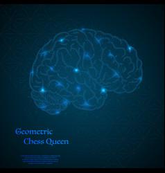 Human brain background vector