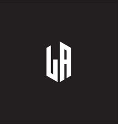 La logo monogram with hexagon shape style design vector