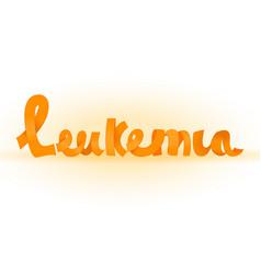 Leukemia lettering image vector