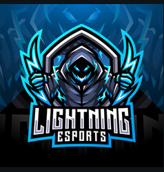 Lightning esport mascot logo design vector