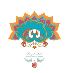 magic decorative hindu peacock vector image