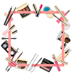 makeup frame vector image
