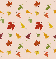 Maple leaves pattern vector