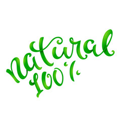 Natural 100 percent conceptual handwritten phrase vector