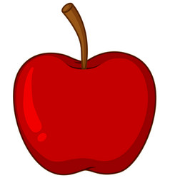 One red apple on white background vector