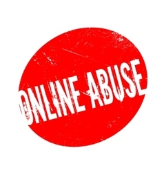 Online Abuse rubber stamp vector