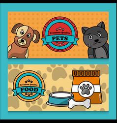 pet premium quality food banner vector image