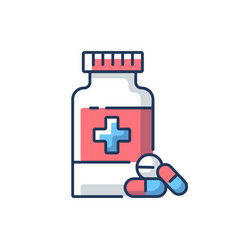 pharmacy rgb color icon vector image