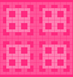 pink geometric pattern on pink background vector image