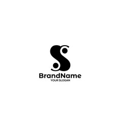 S ying yang logo design vector