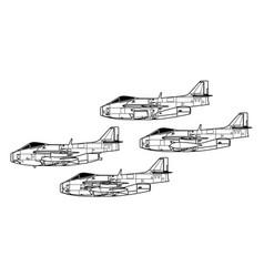 Saab j29 tunnan vector