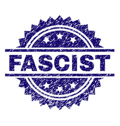 Scratched textured fascist stamp seal vector