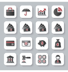 Set of flat modern bankig web icons vector