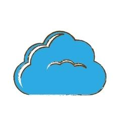 Single cloud icon image vector