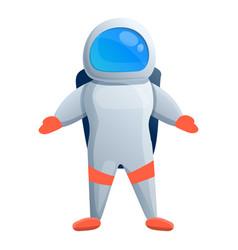 Smiling astronaut icon cartoon style vector