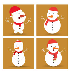 snowman icon set design vector image