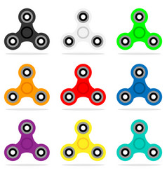 Spinner icon set in flat style hand toy for vector