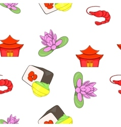 Stay in China pattern cartoon style vector