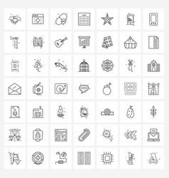 Stock icon set 49 line symbols for fish vector