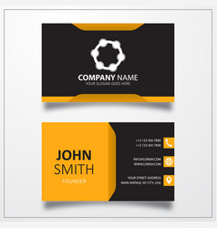 Tambourine icon business card template vector