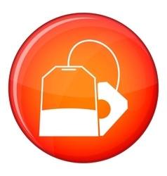 Teabag icon flat style vector image