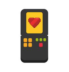 Tetris videogame console vector