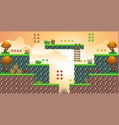 Tile set platform for game 19 vector
