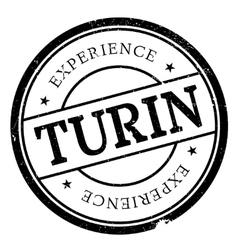 Turin stamp rubber grunge vector