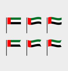 United arab emirates flag symbols set national vector