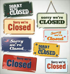Vintage sign Closed vector image