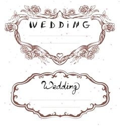 Wedding title Floral Frame for Wedding Invitation vector image