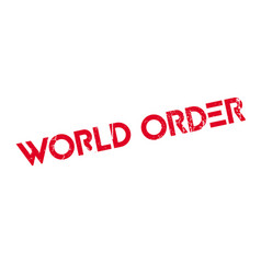 World order rubber stamp vector