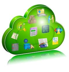 Digital enterprise management in cloud application vector image vector image