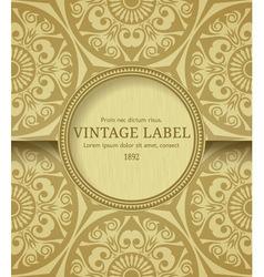 Stylish vintage frame vector image