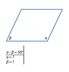 the task to find the corners of the parallelograms vector image vector image