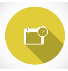 calendar and stopwatch icon vector image