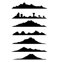 collection of mountain silhouette vector image