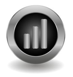 Metallic signal button vector image