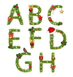 Christmas Alphabet vector image