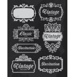 vintage chalkboard banners vector image vector image