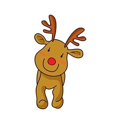 A reindeer is standing vector