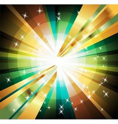 Abstract colorful background of star burst vector image