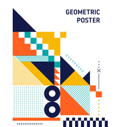 Abstract geometric shape layout design template vector