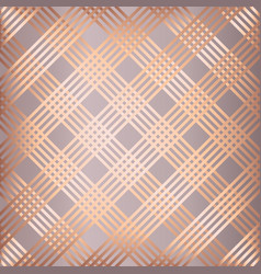 abstract rose gold striped pattern background vector image