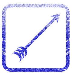 Arrow framed textured icon vector