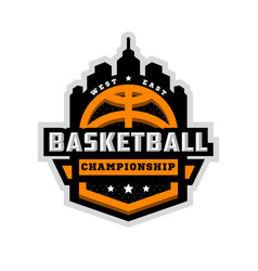 Basketball championship sports logo emblem vector