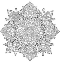 beautiful coloring book page with rainy pattern vector image
