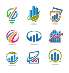 best marketing logo set vector image