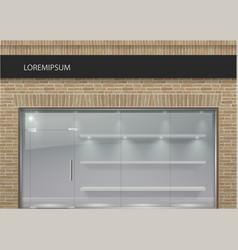 Brick facade in loft style 3 vector