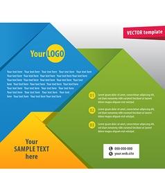brochure2 vector image